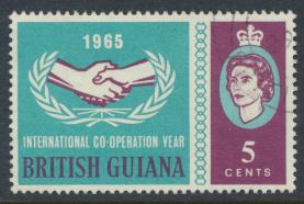 British Guiana SG 372 Used (Sc# 295 see details) cooperation year