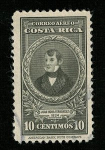 1943 Airmail - Portraits and Dates, Costa Rica 10c (TS-383)