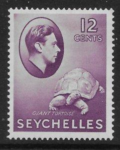SEYCHELLES SG139 1938 12c REDDISH VIOLET MTD MINT