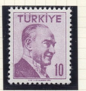 Turkey 1956-57 Early Issue Fine Mint Hinged 10p. NW-17698