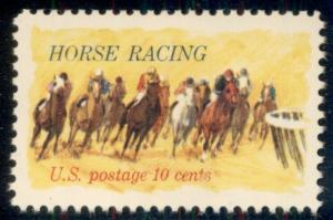 #1528 10¢ HORSE RACING LOT OF 400 MINT STAMPS, SPICE UP YOUR MAILINGS!