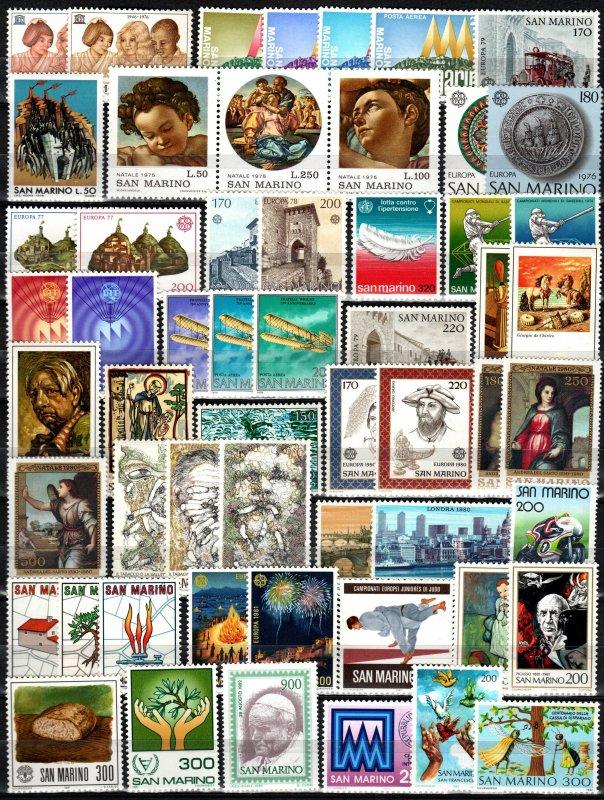 Worldwide  Lot-  San Marino Mint Never Hinged (X3091)