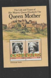 TUVALU-NANUMEA #45 1985 QUEEN MOTHER 85TH BIRTH MINT VF NH O.G S/S aa