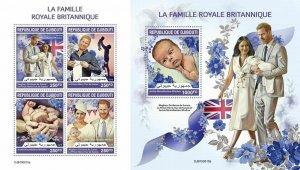 Z08 IMPERF DJB190515ab DJIBOUTI 2019 British royal family MNH ** Postfrisch