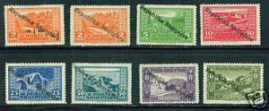 Albania Shqiperise Scott 178-85 MH* set CV$17.50