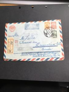 Latvia As Republic in Soviet Union to Canada - Russian Air Postal Stat. Cover