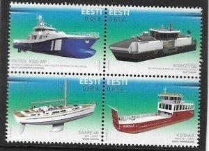 2017  ESTONIA  -  SG. 826 / 829  -  SHIP BUILDING  -  MNH