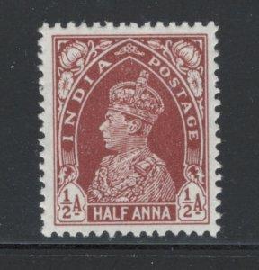 India 1937 King George VI 1/2a Scott # 151 MH