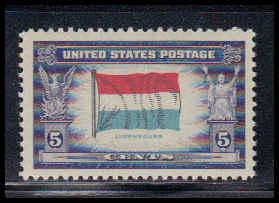 912 5c Flag of Luxembourg Fine MNH W3833