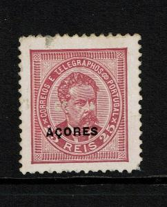 Azores SC# 62?, a few surface scratches causing small thins, Mint No Gum - S8294