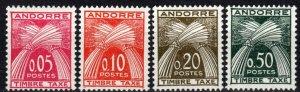 Andorra (Fr) #J42-5 F-VF Unused  CV $48.00 (P575)