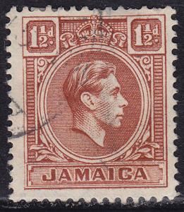 Jamaica 118 USED 1938 King George VI 1½d