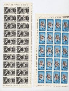ITALY Blocks Sheets Horses Red X MNH Mixed Lot(Appx 550 Stamps) (Ref DD632