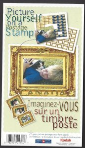 Canada #1853a MNH booklet, picture postage, issued 2000