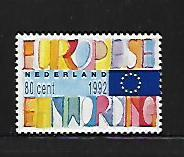NETHERLANDS, 817, MNH, SINGLE EUROPEAN MARKET