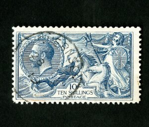 Great Britain Stamps # 175 F-VF Fresh Used Seahorses Catalog Value $475.00