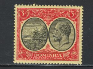 Dominica 1923 Seal of Colony and George V 3p Scott # 74 MH