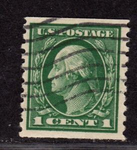 $US Sc#443 used, VF-XF, coil stamp, sound, CV. $45