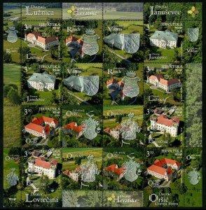 HERRICKSTAMP NEW ISSUES CROATIA Castles 2019 Souvenir Sheet