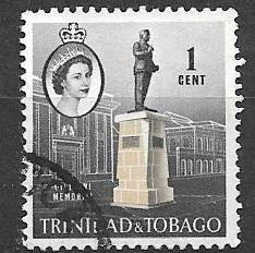 Trinidad and Tobago 1960 1 cent Memorial, used, Scott #89