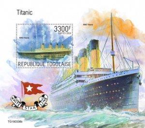 TOGO- 2019 - Titanic - Perf Souv Sheet - MNH