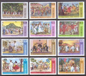 Venezuela - Scott #893-893, C919-C924 - MNH - SCV $11.80