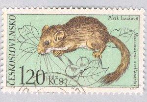 Czechoslovakia Rodent green 120k (AP128723)