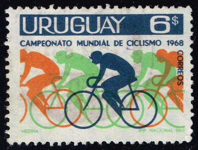 Uruguay #765 Bicyclists; Used (0.25)