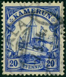 Germany 1914 Kamerun Camerouns Mi23 Expertized Wmk Yacht 75361