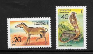 Turkmenistan #29-30 MNH Singles (my1)