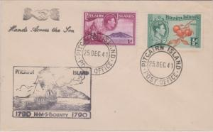 Pitcairn Island 1/2d KGVI Cluster of Oranges and 1d KGVI Fletcher Christian w...