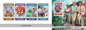 Z08 MOZ18310ab Mozambique 2018 Red cross MNH ** Postfrisch Set