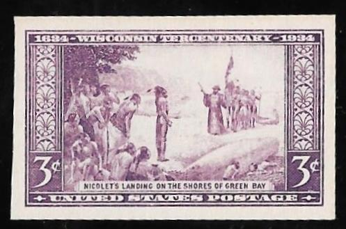 755 3 Cent Wisconsin Stamp Mint NH EGRADED XF 94 XXF