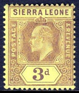 Sierra Leone - Scott #95 - MLH - SCV $8.50
