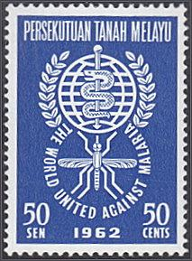 Malaya - Federation # 104 hinged ~ 50s Malaria Eradicatio...