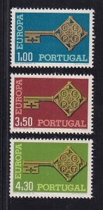 Portugal  #1019-1021  MNH  1968  Europa