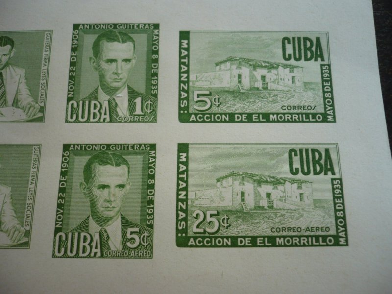 Stamps - Cuba- Scott# C49b - Mint Hinged Souvenir Sheet of 6 Stamps - Imperf