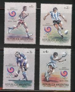 Argentina Scott 1625-1628 MNH** 1988 Seoul Olympic stamp set