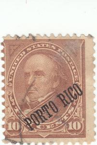 Puerto Rico , Scott #214 - 10c Brown - Used