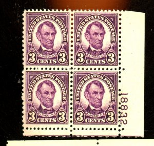 635 MINT PL# BLock F-VF OG LH Cat $18
