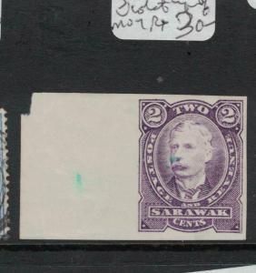 Sarawak SG 28 Violet Proof Imperf MOG (6dvq)