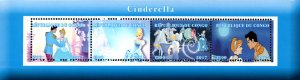 Congo 2017 Cinderella Cartoon Characters 4v Mint Souvenir Sheet S/S. (#20)