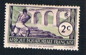 French Equatorial Africa 34 MLH Logging on Loeme (BP8410)