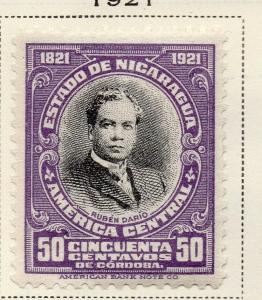 Nicaragua 1921 Early Issue Fine Mint Hinged 50c. 323649