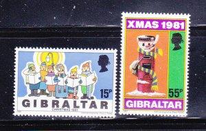 Gibraltar 414-415 Set MNH Christmas