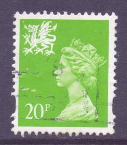 GB Regional Wales, 1993 Machin 20p used