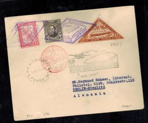 1932 Paraguay Graf Zeppelin Cover to Berlin Germany  LZ 127