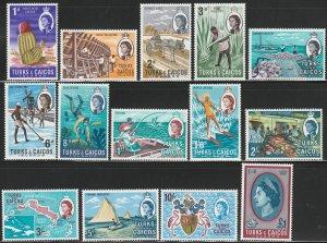 Turks & Caicos, #158-171 Unused, From 167,  CV-$17.75
