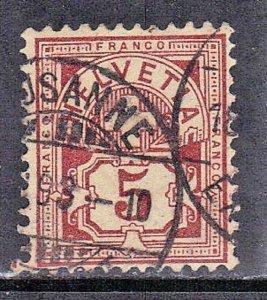 SWITZERLAND  SC #71 **USED** 5c 1882-99     SEE SCAN