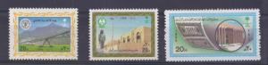 SAUDI ARABIA  SMALL LOT OF 3 SINGLE STAMP ISSUED ON 1986 ALL MINT NH